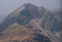 Stob Ban, one of the 7 summits of the 'Ring of Steal' in the Mamores